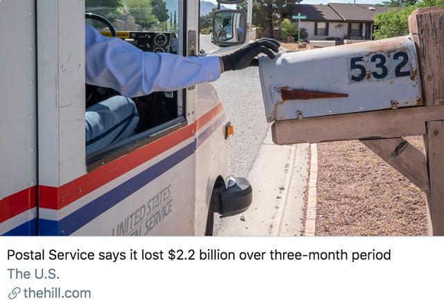 """共和党""""粉丝""""重组美国邮政局,或影响大选结果?"""