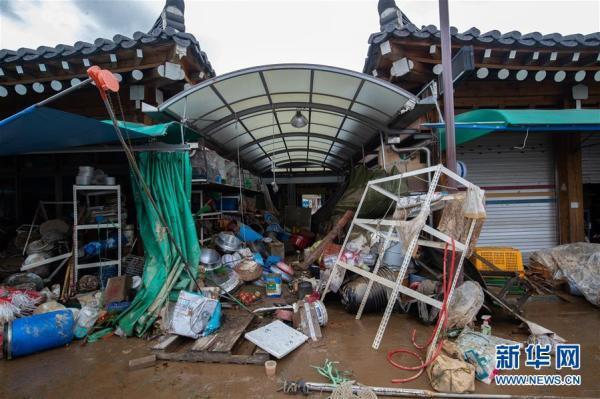 韩国8月以来暴雨已致30人死亡