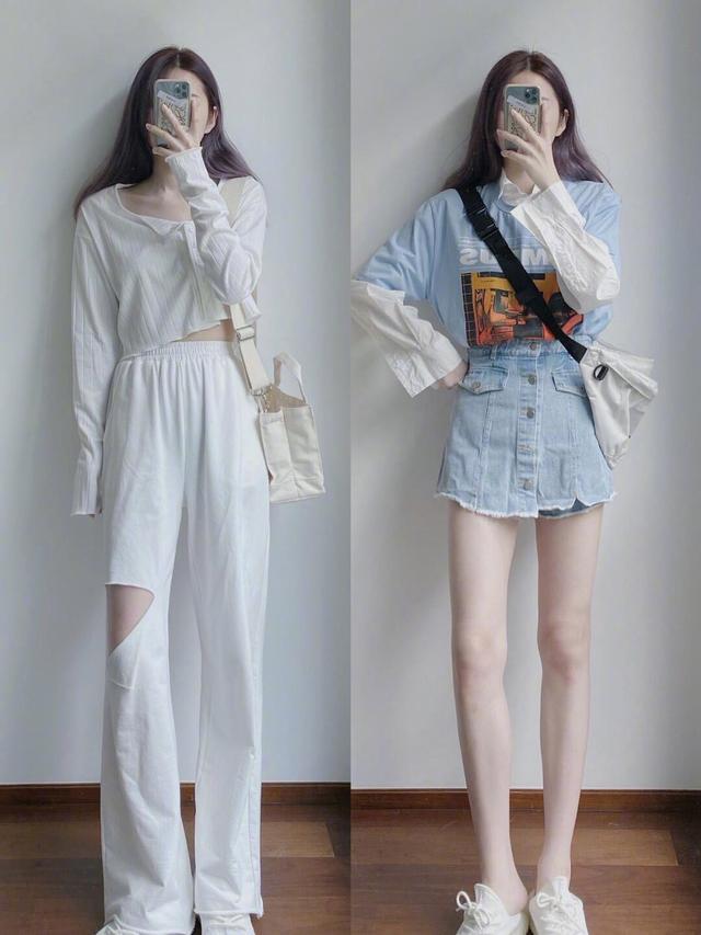 骄阳似火的夏天,简约休闲穿搭时髦潮流,每套都有不一样的看点