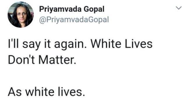 """剑桥大学教授发推""""白人的命不重要"""",被推特删除并受到死亡威胁"""