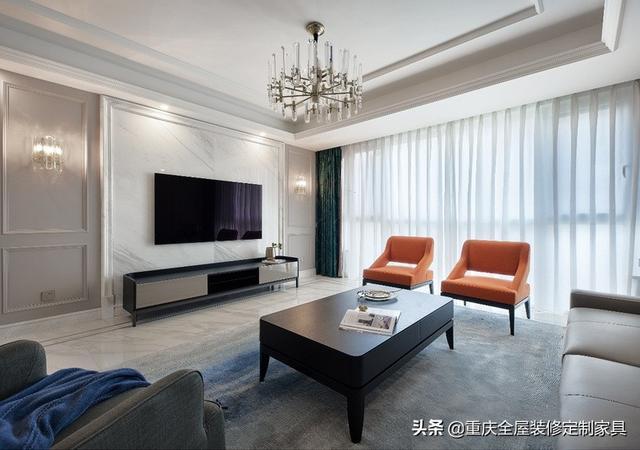 现代轻奢高级灰四室撞色小混搭,满足90后对舒适生活的幻想