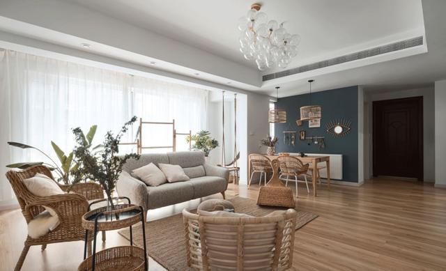 这是我见过最清新的家,149㎡,客厅气氛超暖,孩子非常喜欢