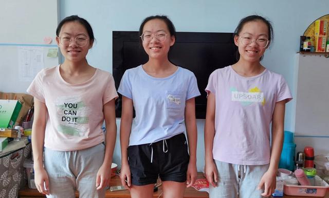 贵州三胞胎姐妹高考均过610分!网友:请收下我的膝盖