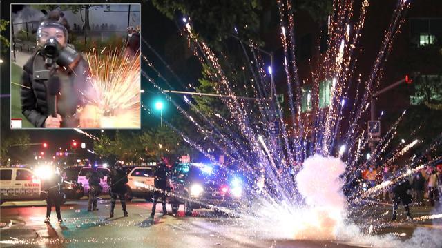 美国西雅图暴动越来越乱:暴徒小组驾驶面包车,开进市内分发武器