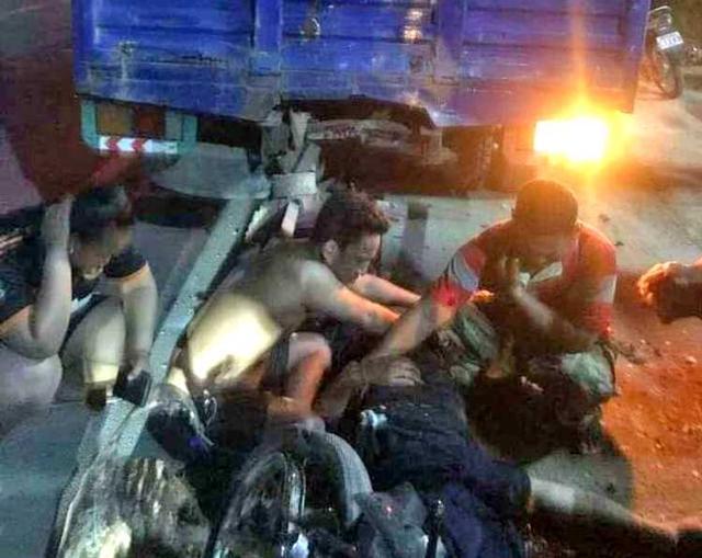 不该发生的悲剧,因车停在路中间柬埔寨一晚两人死亡
