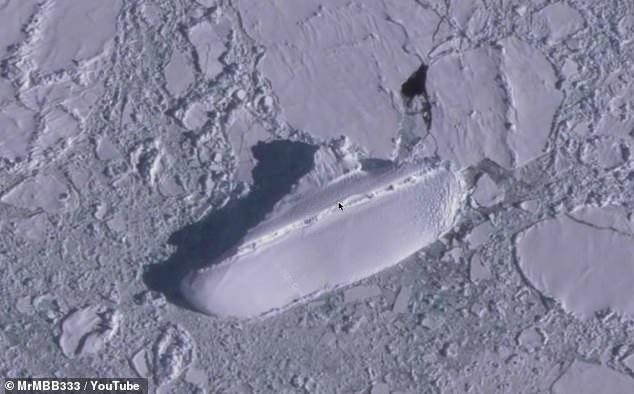 """国外网友用谷歌地球在南极发现离奇""""冰船"""",来历不明引发阴谋论"""