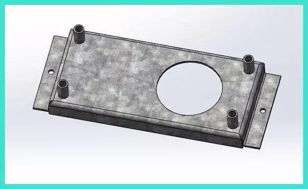 音箱固定钣金焊接件如何制作图纸及展开