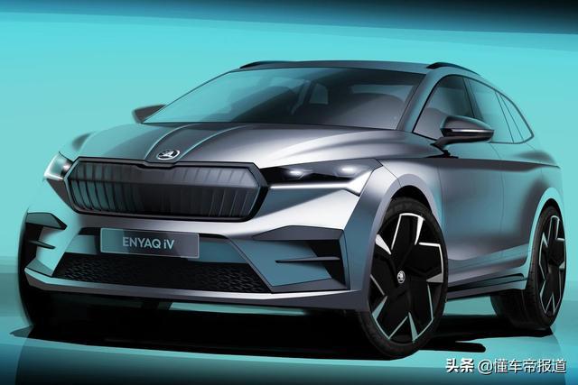曝光   斯柯达Enyaq iV官方渲染图发布 年末投产/明年初上市