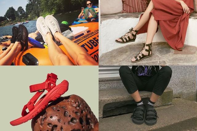 玩户外的女生穿着这些凉鞋不仅貌美如花,还能上山下海