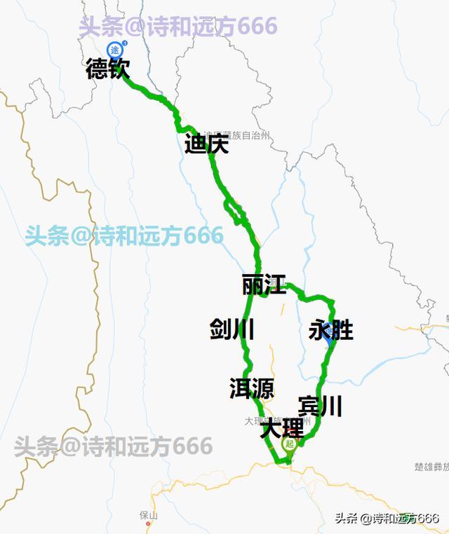 云南自驾游攻略三,滇西北3至7天自驾路线一推荐,云南自驾路线图