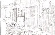 钢笔画的魅力26~《贵州古寨》步骤图