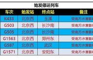 受南方水害影响 北京西站多趟列车停运
