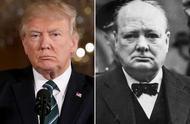 特朗普与丘吉尔表情神相似,都喜欢冷眼皱眉怼众人