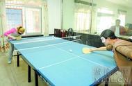 听声辨位 心中有局 盲人朋友同样能打乒乓球和下象棋