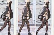 黑丝造型能否真香?杨幂机场搭配又超前,卫衣加黑丝是土是潮?