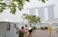 """印尼山火烟霾吹到新加坡,""""花园城市""""被迷雾笼罩,天空灰蒙一片"""