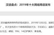 """""""2019年十大网络用语""""发布,""""好嗨哟""""、""""雨女无瓜""""""""柠檬精""""等上榜"""