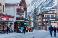 瑞士的冬季雪景 真的是不一样的美景
