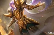 王者荣耀:张良的最新皮肤黄金白羊座,大招很帅