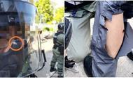 一批蒙面暴徒突然从理工大跑出,防暴警察把他们全拘了