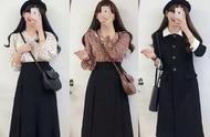 入冬小裙子应该怎么搭?搭配针织外套长款大衣,裙装也可以很温暖