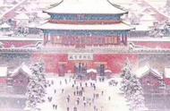 当故宫遇见雪,一朝梦归紫禁城
