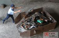 绍兴警方集中统一销毁21638件非法枪爆物