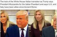 """给特朗普做翻译太难了!意大利译员""""震惊脸""""刷屏网络……"""