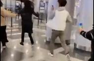 私生代拍追着郑爽机场狂奔 混乱中有人摔倒