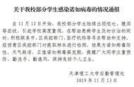 天津理工大学部分学生出现呕吐症状 经检测感染诺如病毒