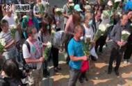 香港70岁清洁工疑遭暴徒砖击身亡 市民公祭悼念