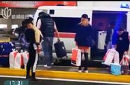网友爆料:一救护车在上海浦东机场接机