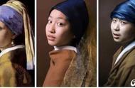 会玩!青岛中学生模仿世界名画拍照,碎布头当道具