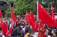 数千名香港市民参加爱国护港集会,中学生称不后悔支持港警