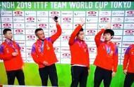 乒乓球世界杯男子团体决赛中,中国队战胜了韩国队夺的冠军