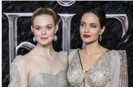 沉睡魔咒2首映礼,安吉丽娜朱莉好美,岁月美人,魔女和公主合体