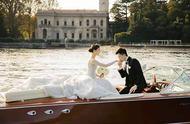 文咏珊意大利举行古堡婚礼 泊船入场温馨浪漫