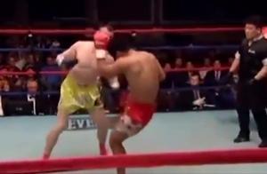 王洪祥大意轻敌被重击读秒手,起身后招牌低扫腿直接KO对手
