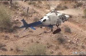 看着就晕!救援直升机绳索出故障,74岁受伤老太空中狂转两分钟