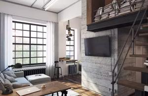 24平loft单身公寓,大立柱是户型缺陷,但难不倒设计师!
