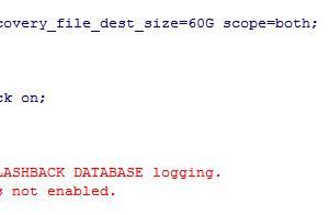 「故障处理」生产环境开启闪回报错ORA-38706