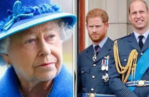 王室专家透露,女王被威廉哈里伤透了心,永远不会干涉他们的争斗