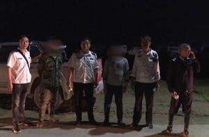 河道里闪烁着灯光!禁渔期顶风作案!2名男子非法电捕鱼,当场被抓!没收工具并严惩!