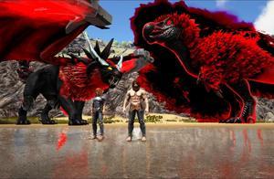 方舟生存进化-VS系列 暗黑狮蝎兽VS最强嘟嘟龙 猜下谁赢了