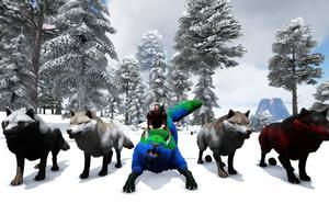 妖月 方舟生存进化 盖亚恐惧10 驯服恶狼!组建狼群 带上狼群打猎