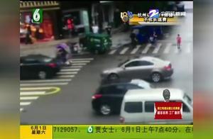 """快递车冲向人行道,撞上路边女子!小哥竟说:刚刚""""无人驾驶""""?"""
