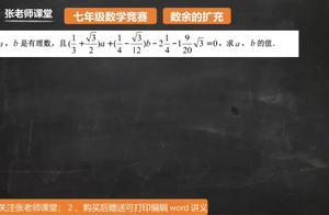 数余的扩充1.3:由有理数与无理数的定义切入,建立方程组解答
