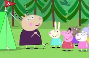 大家支好帐篷,羚羊夫人要小朋友们去捡柴