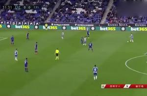 足球:回顾武磊西甲第二球,这一脚质量简直是太高了