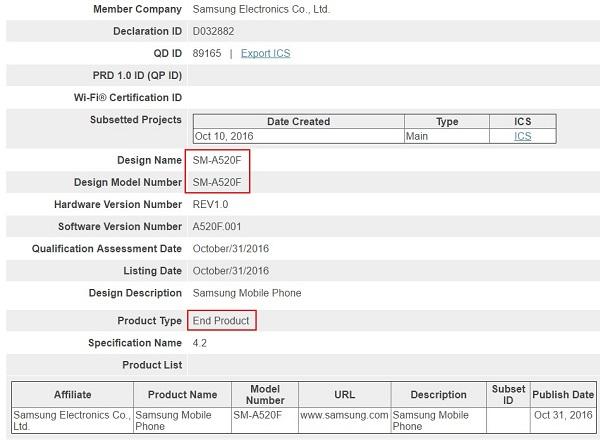 三星斟酌新手机潮 新版本Galaxy A5根据验证